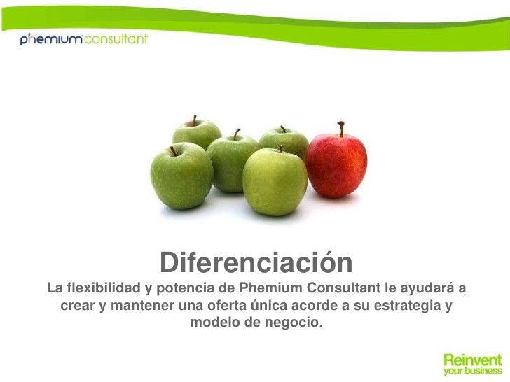 DiferenciaciónLa flexibilidad y potencia de Phemium Consultant le ayudará a crear y mantener una oferta única acorde a su ...