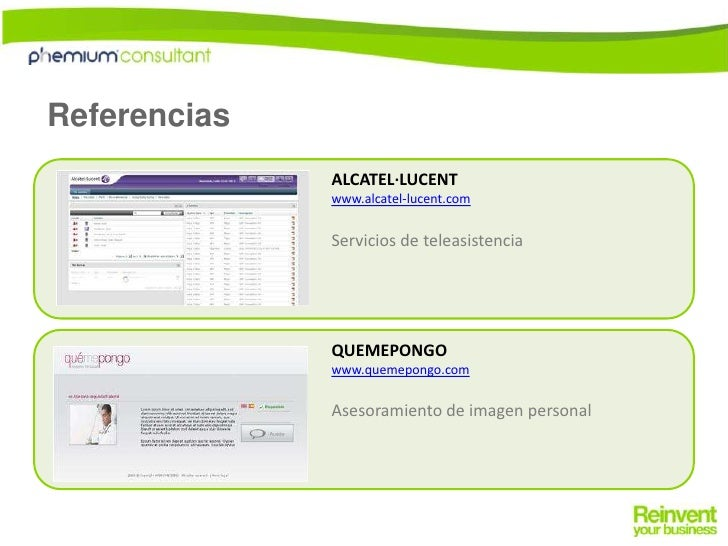 Referencias<br />ALCATEL·LUCENT<br />www.alcatel-lucent.com<br />Servicios de teleasistencia<br />QUEMEPONGO<br />www.quem...