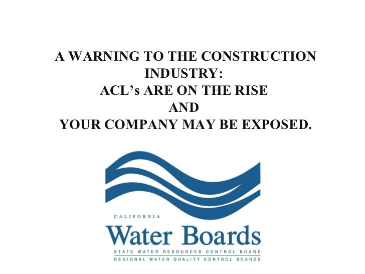 A WARNING TO THE CONSTRUCTION INDUSTRY:  ACL's ARE ON THE RISE  AND  YOUR COMPANY MAY BE EXPOSED.