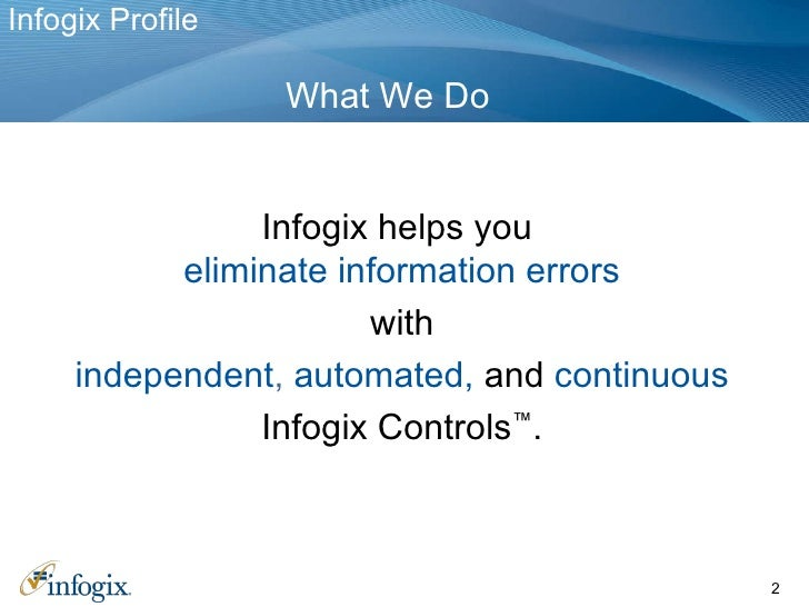 Infogix Automated Information Controls