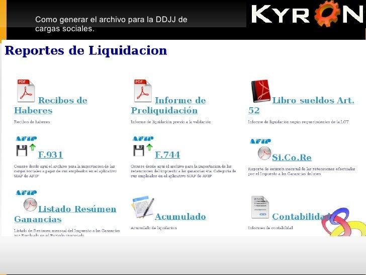 KYRON Generacion de F931 Slide 2