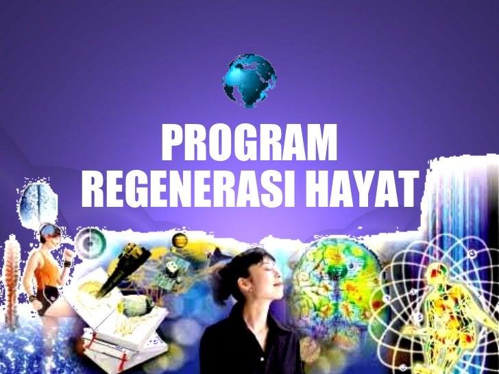PROGRAMREGENERASI HAYAT