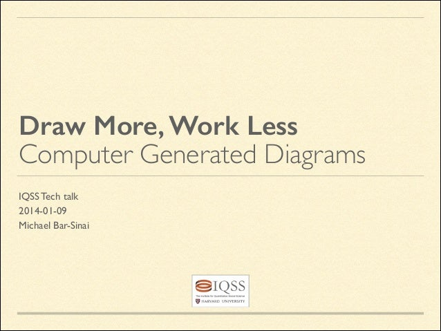 Draw More, Work Less Computer Generated Diagrams IQSS Tech talk	  2014-01-09	  Michael Bar-Sinai