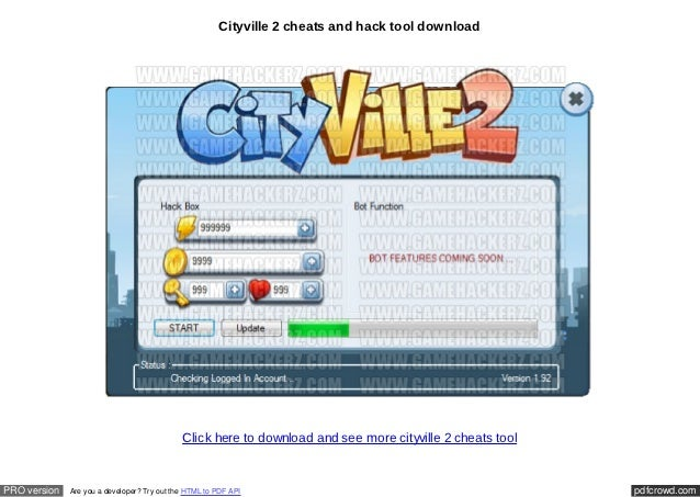 Cityville 2 cheats tool download