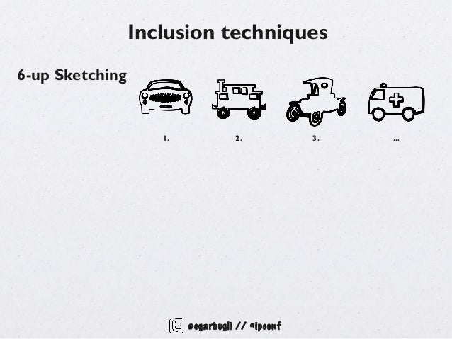 Inclusion techniques6-up Sketching                    1.             2.            3.   ...                         @egarb...