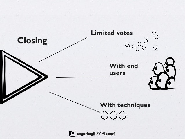 Limited votesClosing                            With end                            users                      With techni...