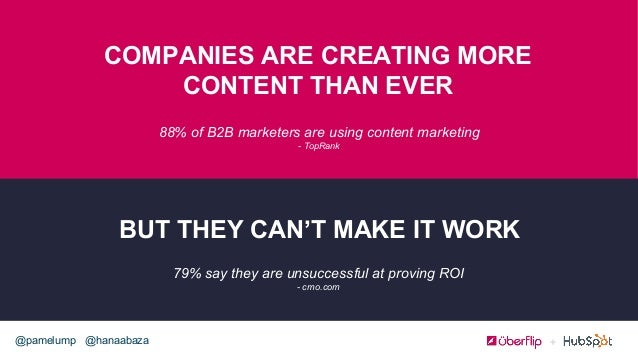 @hanaabaza@pamelump 88% of B2B marketers are using content marketing - TopRank COMPANIES ARE CREATING MORE CONTENT THAN EV...