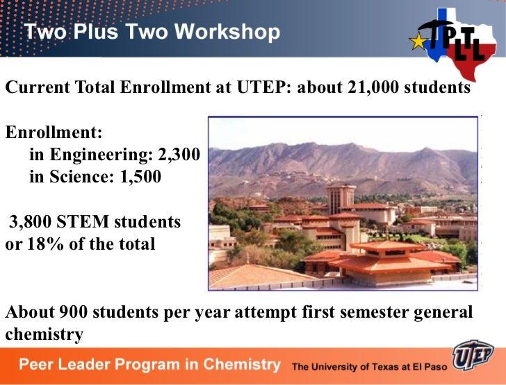 Generating chemistry majors and graduates at utep using plus two pltl
