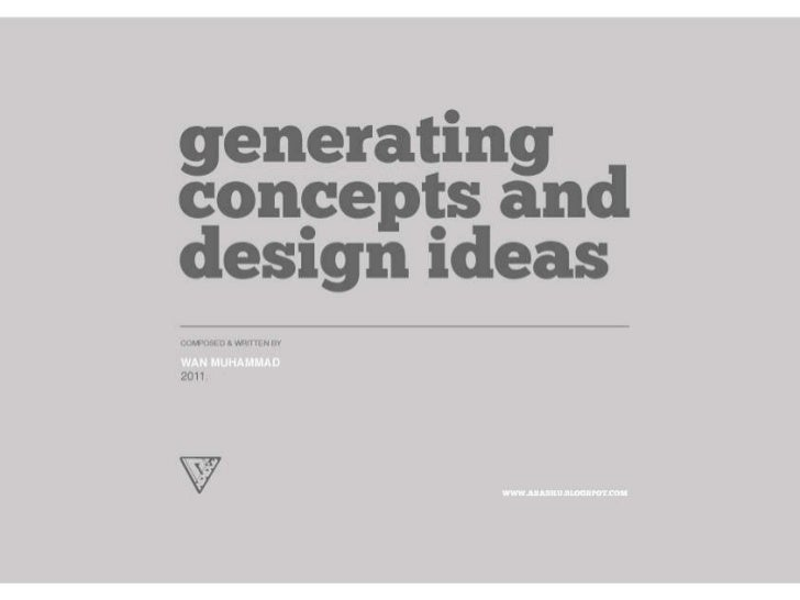 generating architectural concepts design ideas rh slideshare net design concept ideas list concept interior design ideas