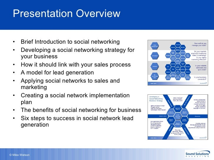 Presentation Overview UlliBrief Introduction To Social Networking Li