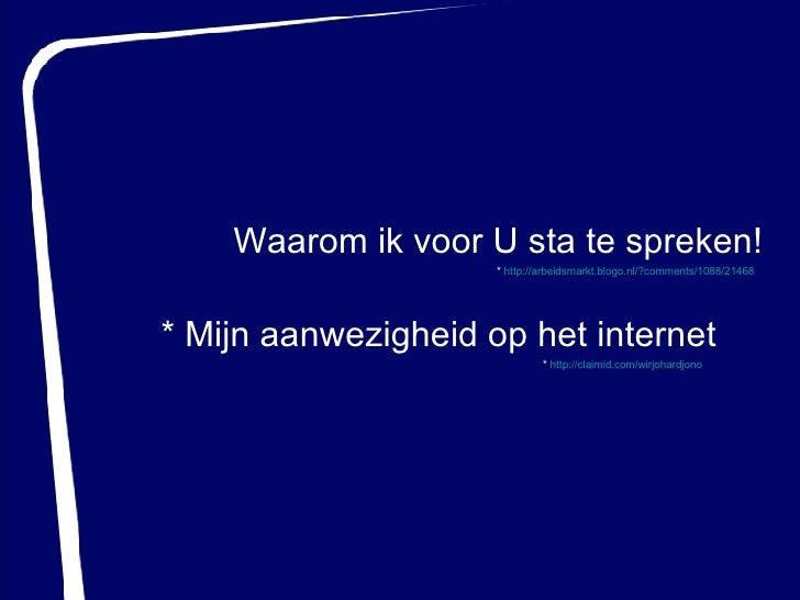 Generation Y - Totaljobs.nl (19-04-2007) Slide 3
