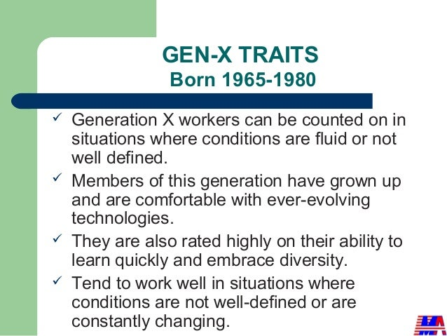 Generational Differences In Workplace [Supervisory Training}