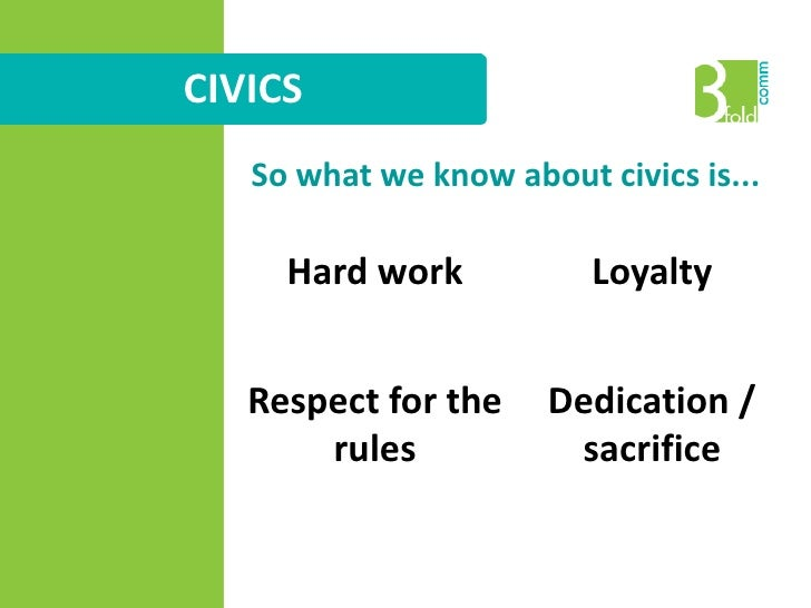 CIVICS<br />So what we know about civics is...<br />