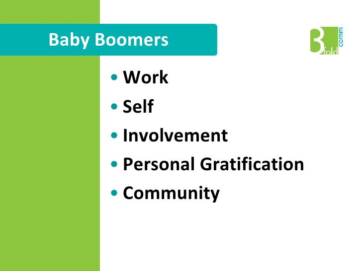 Baby Boomers<br /><ul><li>Ages 43-61
