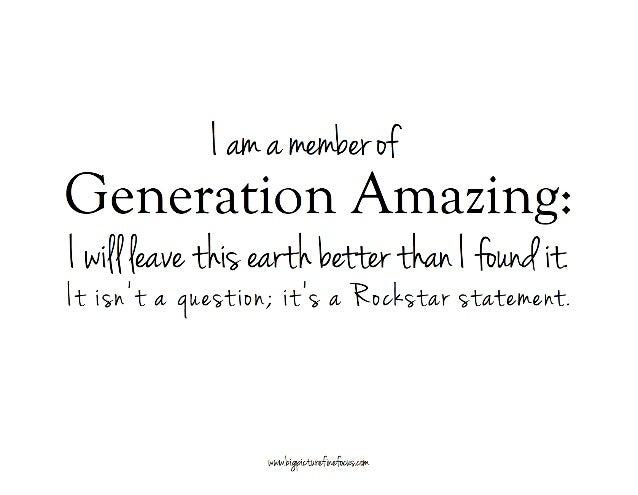 Generation Amazing
