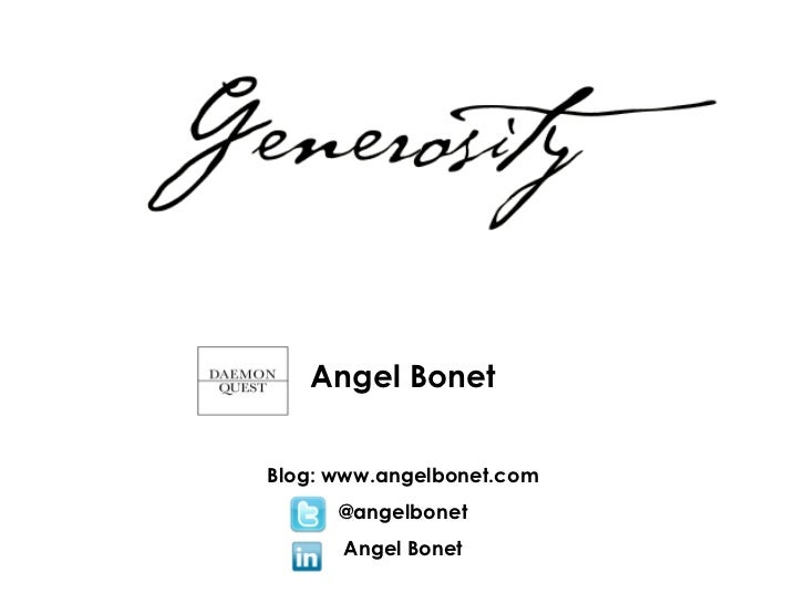 Angel BonetBlog: www.angelbonet.com      @angelbonet      Angel Bonet