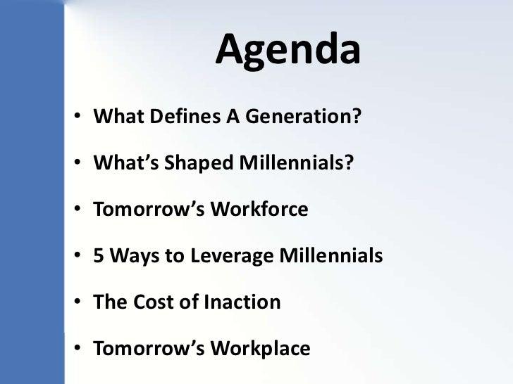 Generation Impact: Millennials & Tomorrow's Workplace - E2 Keynote Presentation 9/26/12 Slide 3