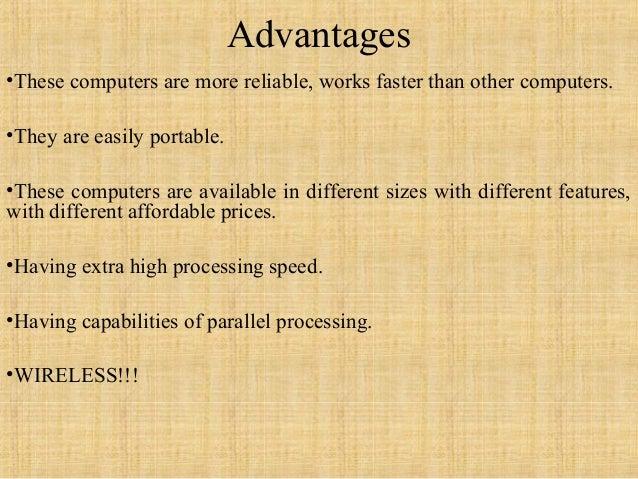 advantages of having a computer