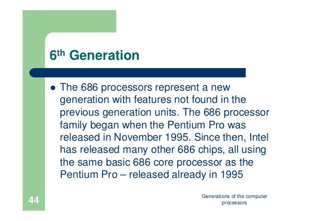 generation of computer processors