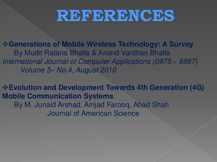 Generation of mobile communication systems