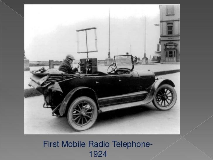 First Mobile Radio Telephone-             1924