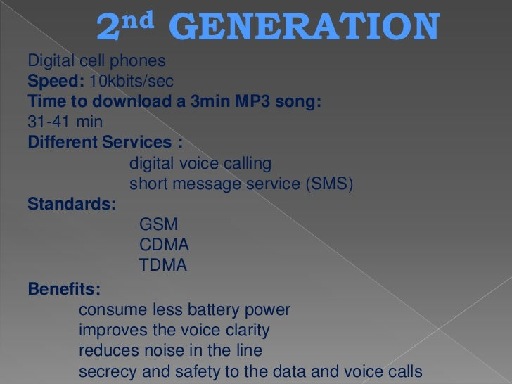 3 rd    GENERATION 2G networks were built mainly for voice data and slow transmission. Due to rapid changes in user expect...