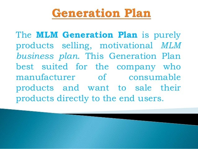 Generation plan mlm mlm generation plan generation for Multi generational product plan