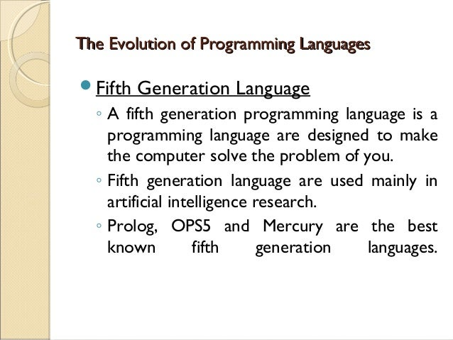 1st generation of programming language essay First generation computers relied on machine language, the lowest-level programming language understood by computers, to perform operations, and they could only solve one problem at a time input was based on punched cards and paper tape, and output was displayed on teletype printers.