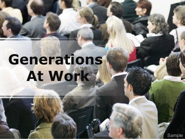 Generations At Work Sample