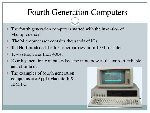 Computer fourth generation.