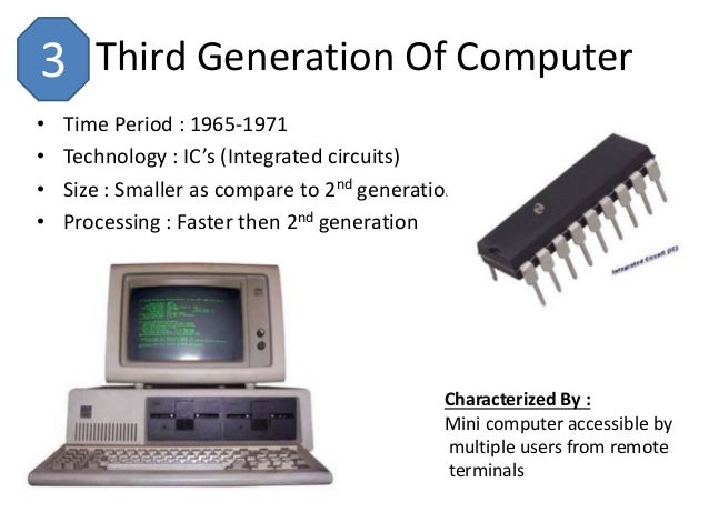 the computer generations Each generation of computer or history of computer is characterized by a major technological development that fundamentally changed the way computers operate, resulting in increasingly smaller, cheaper, more powerful and.