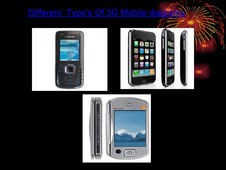 Different  Type's Of 3G Mobile diagrams