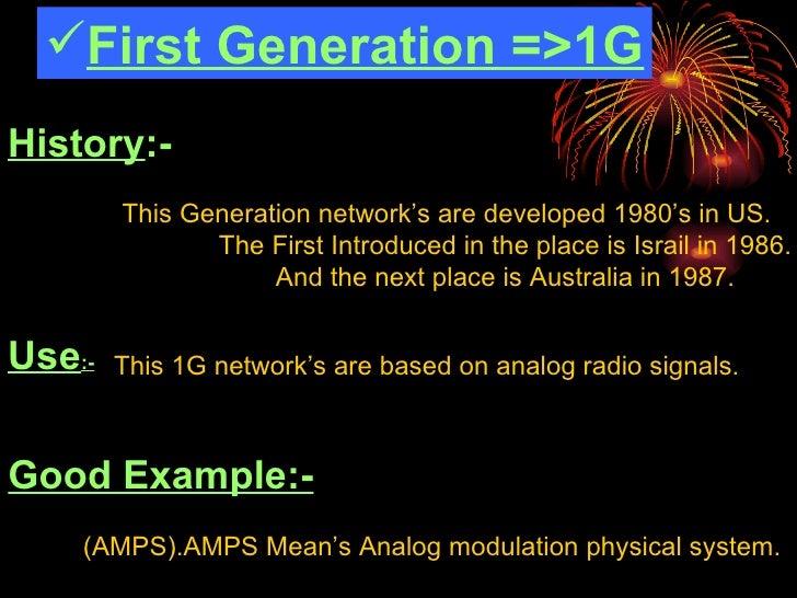 Generations of mobile Slide 3