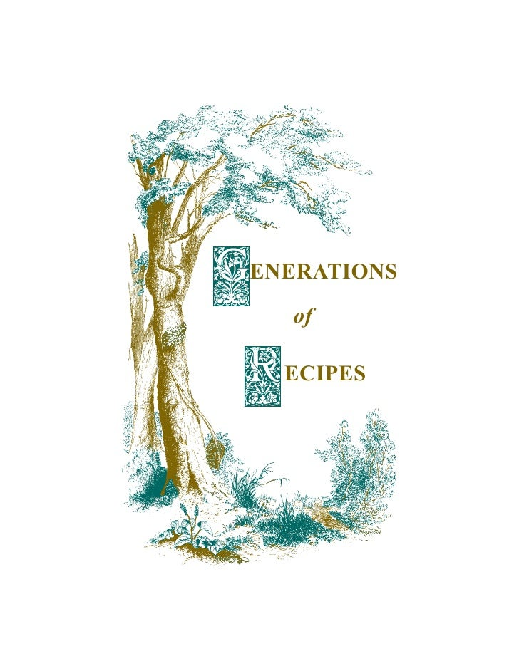 ENERATIONS  of  ECIPES