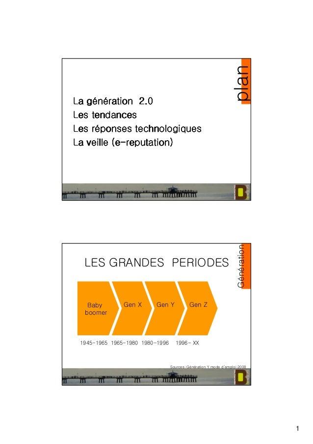 1 La gLa gLa gLa géééénnnnéééération 2.0ration 2.0ration 2.0ration 2.0 Les tendancesLes tendancesLes tendancesLes tendance...