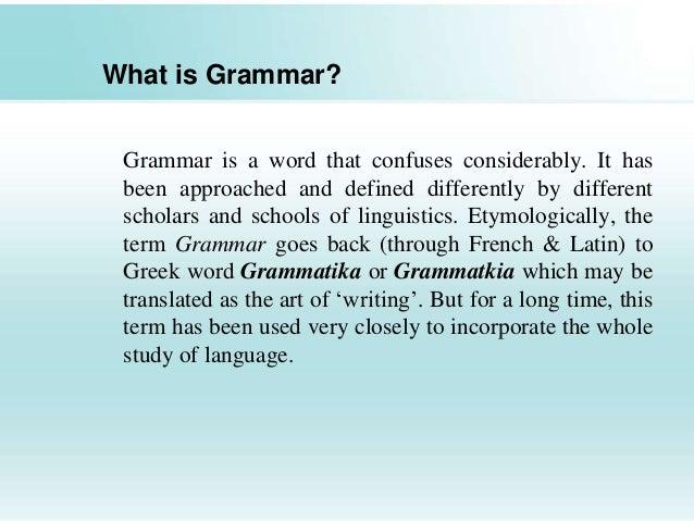 Grammar, Definition of Grammar By Merriam-Webster