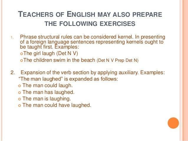 How to write a kernel sentence exercises