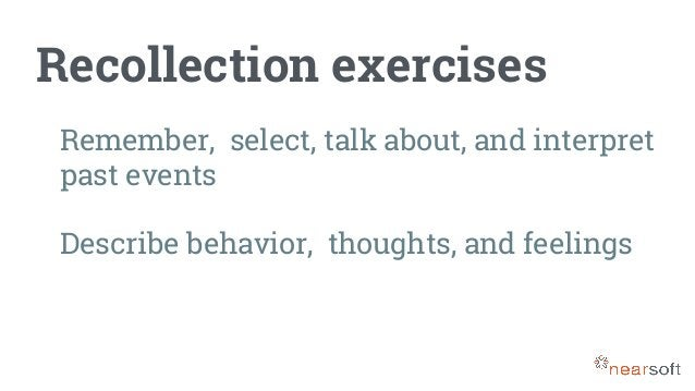 Projective exercises Talk about sensitive topics Express abstract feelings and thoughts