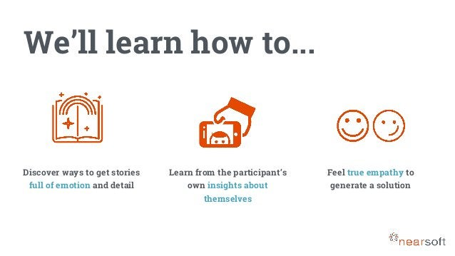 We'll learn how to... Discover ways to get stories full of emotion and detail Learn from the participant's own insights ab...