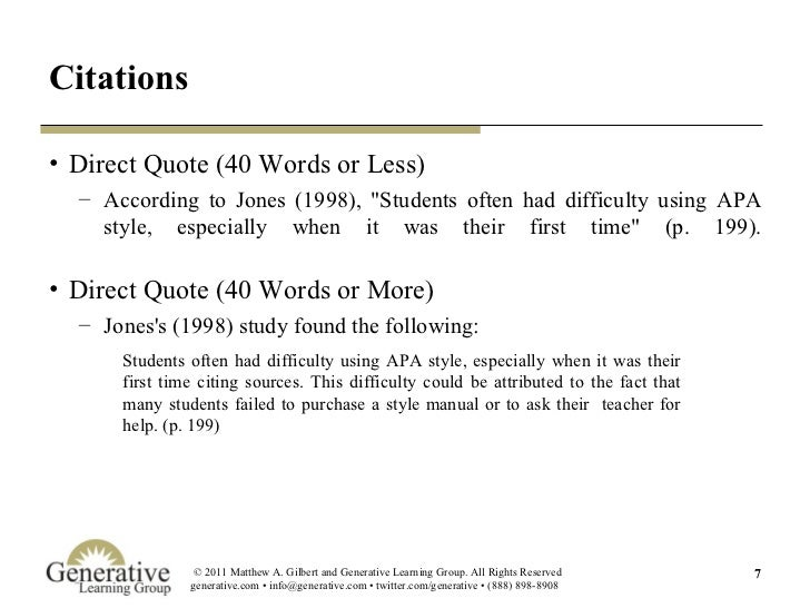 Understanding APA New Apa Direct Quote