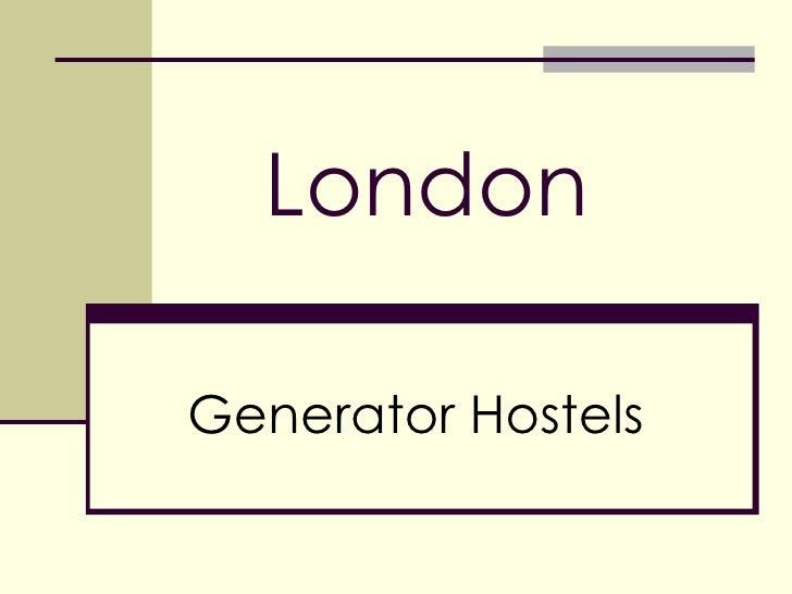 London Generator Hostels