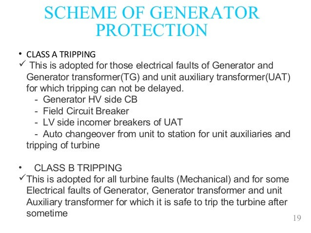 Generator protection by a  kato