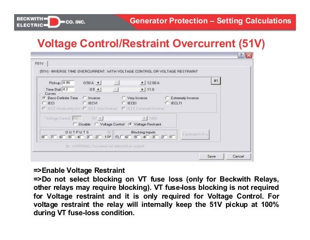 generator protection calculations settings rh slideshare net Multilin Motor Protection Motor Electro Mechanical Protection Relay