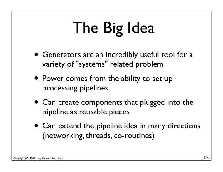 Generator Tricks for Systems Programmers, v2.0