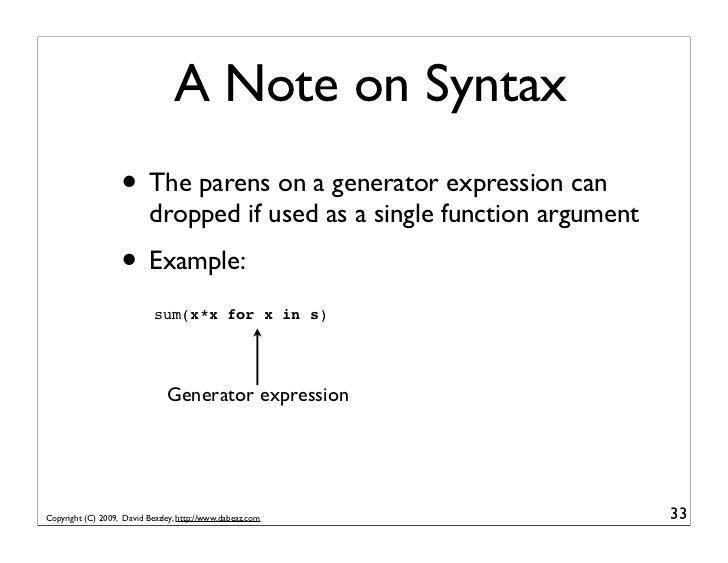 Python Generator Hacking