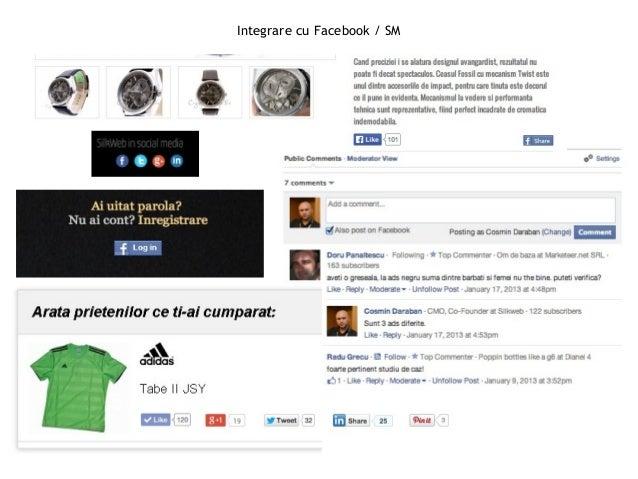 Integrare cu Facebook / SM