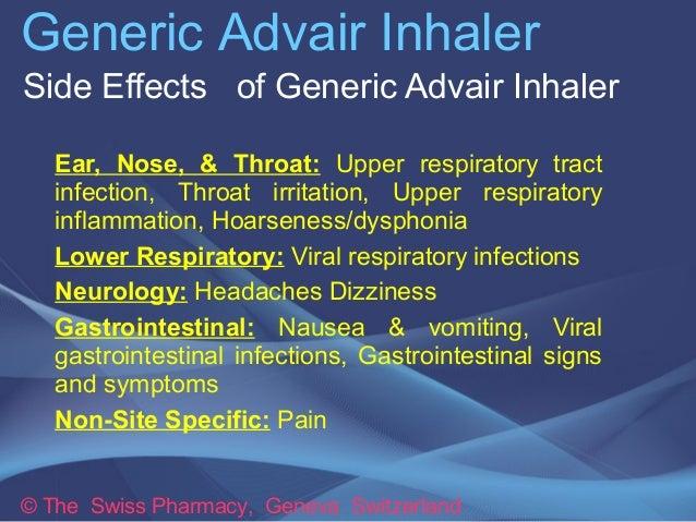 Salmeterol Inhaler Side Effects