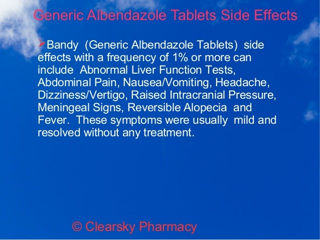 Albenza Side Effects