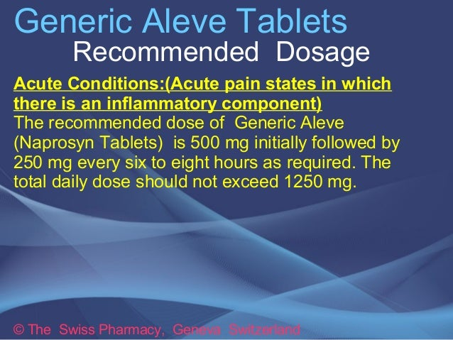 Aleve Side Effects Mayo Clinic