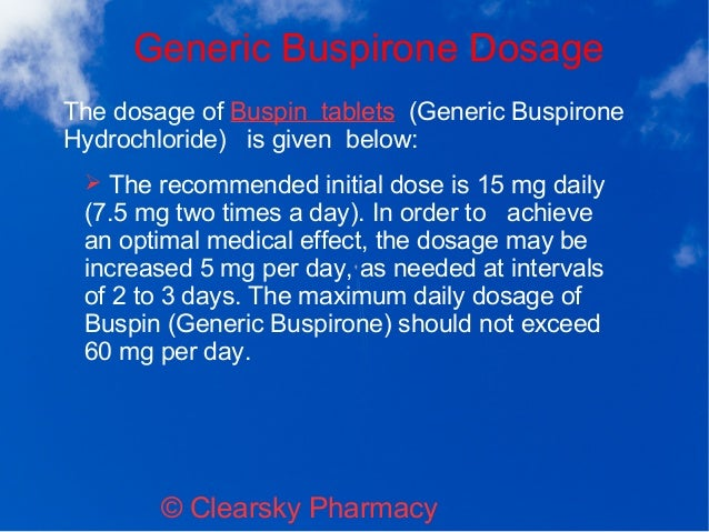 buspirone generic